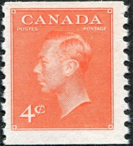 1951 - Roi Georges VI - Canadian stamp - Stamps of Canada
