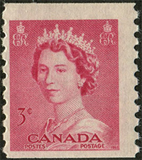 1953 - Queen Elizabeth II - Canadian stamp - Stamps of Canada