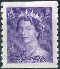 1953 - Queen Elizabeth II - Canadian stamp - Stamps of Canada