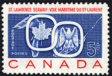 1959 - St. Lawrence Seaway - Canadian stamp - Stamps of Canada