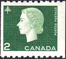 1963 - Queen Elizabeth II - Canadian stamp - Stamps of Canada