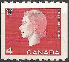 1963 - Queen Elizabeth II - Canadian stamp - Stamps of Canada