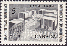 1964 - Charlottetown Conference - Canadian stamp - Stamps of Canada