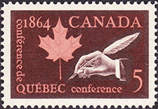 1964 - Quebec Conference - Canadian stamp - Stamps of Canada