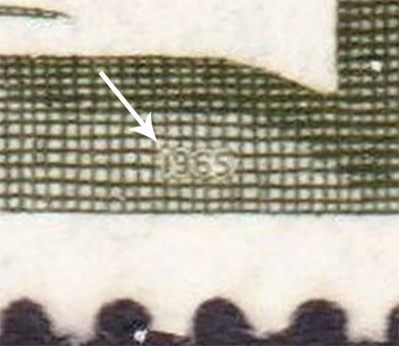 Canadian stamp - 1965 - Hidden date