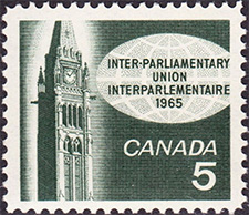 Inter-Parliamentary Union 1965 - Canadian stamp