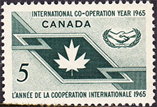 1965 - International Co-operation Year - Canadian stamp - Stamps of Canada