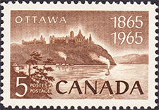 Ottawa 1965 - Canadian stamp