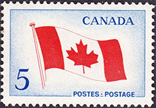 The National Flag 1965 - Canadian stamp