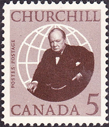 Churchill 1965 - Canadian stamp