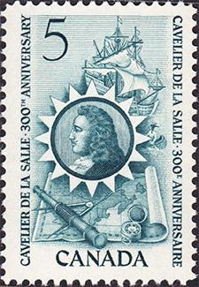 1966 - Cavelier de La Salle - Canadian stamp - Stamps of Canada
