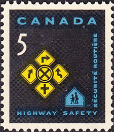 1966 - Highway Safety - Canadian stamp - Stamps of Canada