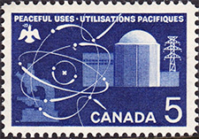 Peaceful Uses 1966 - Canadian stamp