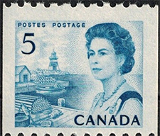 1967 - Queen Elizabeth II, Atlantic Coast - Canadian stamp - Stamps of Canada