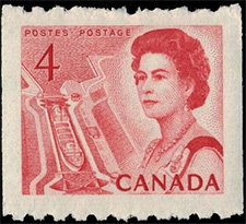 1967 - Queen Elizabeth II, Mid-Canada Seaway View - Canadian stamp - Stamps of Canada