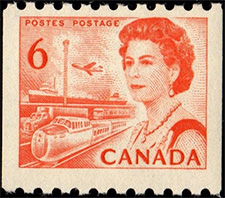 1968 - Queen Elizabeth - Canadian stamp - Stamps of Canada