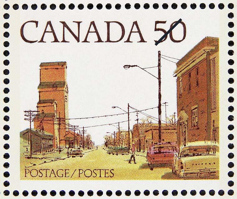 Stampsandcanada Prairie Street Scene 50 Cents 1978 Stamps Of
