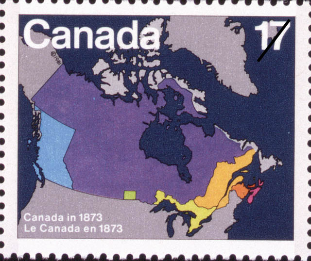 Map Of Canada In 1873.Stampsandcanada Canada In 1873 17 Cents 1981 Stamps Of Canada