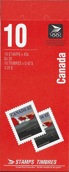 The Flag - 42 cents 1991 - Canadian stamp - 1356a - Booklet pane of 10