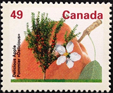 1992 - Delicious Apple - Canadian stamp - Stamps of Canada