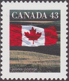 1992 - The Flag - Canadian stamp - Stamps of Canada