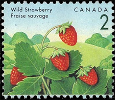 1992 - Wild Strawberry - Canadian stamp - Stamps of Canada