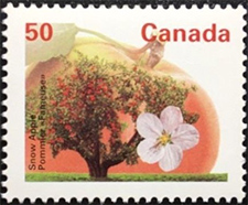 1994 - Snow Apple - Canadian stamp - Stamps of Canada