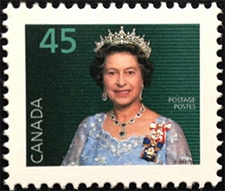 1995 - Queen Elizabeth II - Canadian stamp - Stamps of Canada