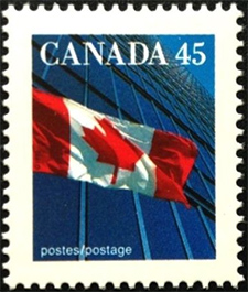 1995 - The Flag - Canadian stamp - Stamps of Canada